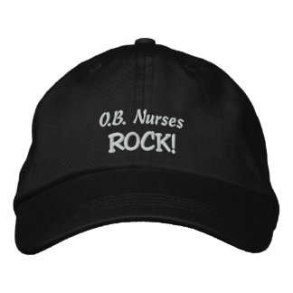O.B. ¡Roca de las enfermeras! Gorra De Béisbol Bordada