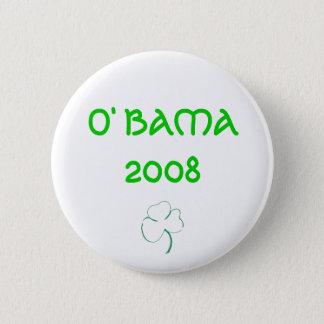 O' BAMA 2008 PINBACK BUTTON