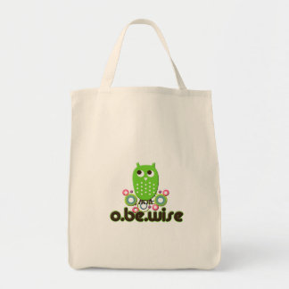 O Be Wise Grocery Tote Bag