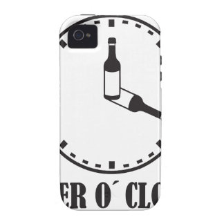 o beer clock vibe iPhone 4 funda