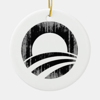 O black1 Vintage.png Double-Sided Ceramic Round Christmas Ornament