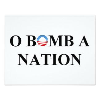 O BOMB A NATION CARD