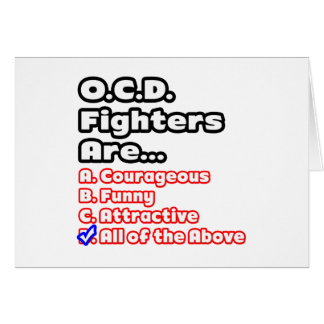 O.C.D. Fighter Quiz Greeting Card