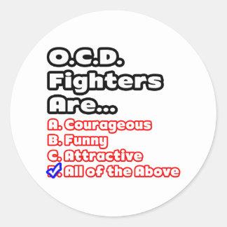 O.C.D. Fighter Quiz Round Sticker