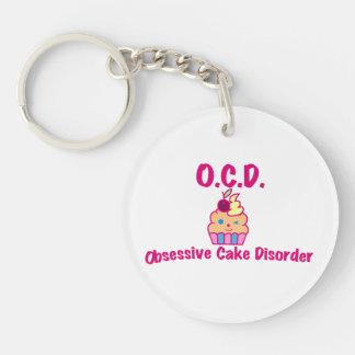O.C.D. - Obsessive Cake Disorder Keychain