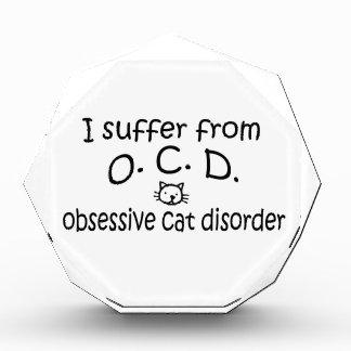O.C.D. Obsessive Cat Disorder Acrylic Award