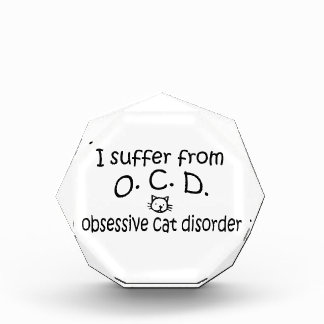 O.C.D. Obsessive Cat Disorder Award