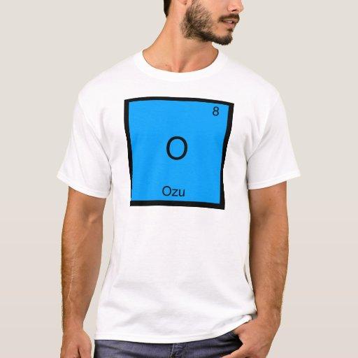 O - Camiseta divertida del símbolo del elemento de