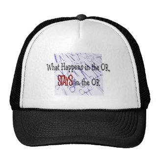 O (camisetas de los trabajadores de la sala de ope gorro