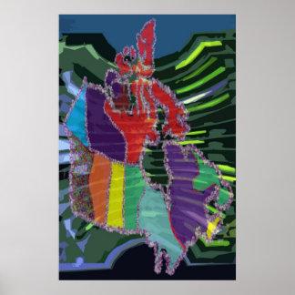 O CANADA -  Artistic Mapigraph Poster