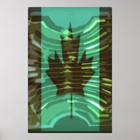 O CANADA -  Artistic Maple Leaf Artistic Poster