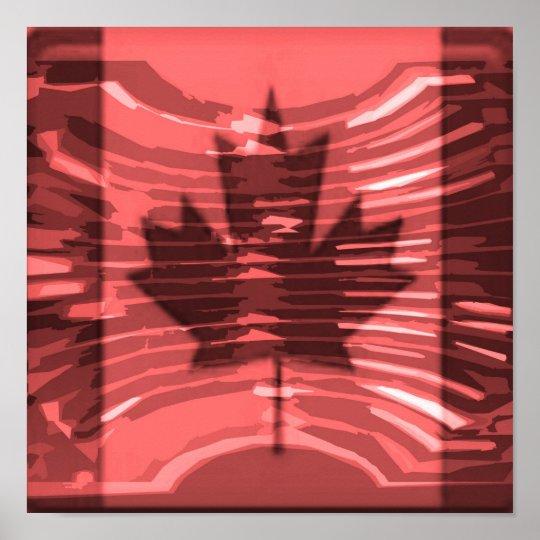 O CANADA -  Artistic Maple Leaf Poster
