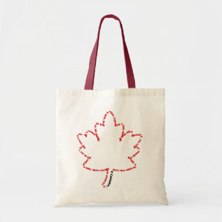 O Canada National Anthem in a Maple Leaf Budget Tote Bag