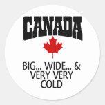 O CANADA ROUND STICKER