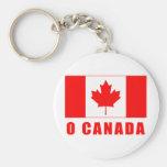 O CANADA with Canadian Flag Tshirts Basic Round Button Keychain