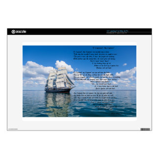 """O' Captain, My Captain by: Walt Whitman Decals For 15"""" Laptops"""