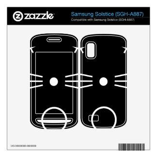 O Cat Black Samsung Solstice Decal