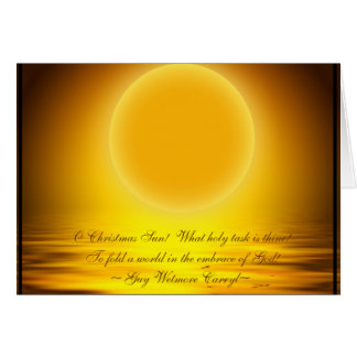 O Christmas Sun! Card