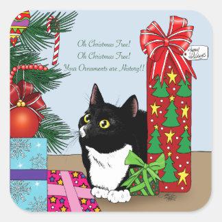 O Christmas Tree Square Sticker