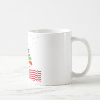 O CHRISTMAS Tree Star Chevron Gifts Coffee Mug