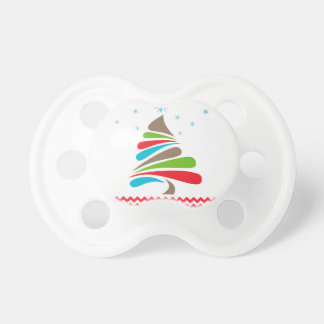 O CHRISTMAS Tree Star Chevron Gifts Pacifier