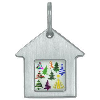 O CHRISTMAS TREES PET ID TAG