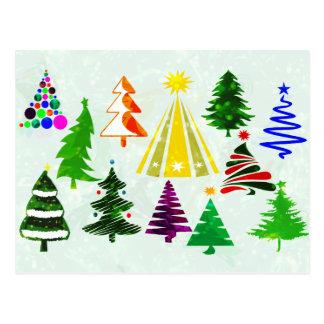 O CHRISTMAS TREES POSTCARD