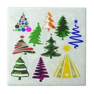 O CHRISTMAS TREES SMALL SQUARE TILE