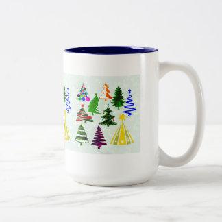 O CHRISTMAS TREES Two-Tone COFFEE MUG