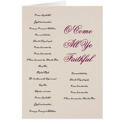 O Come All Ye Faithful Christmas Card