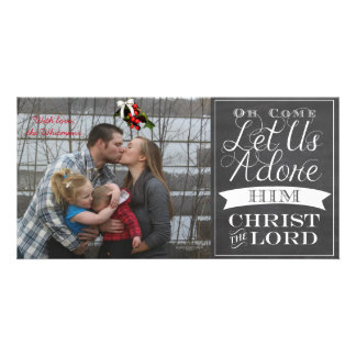 O Come Let Us Adore Him Greeting Card