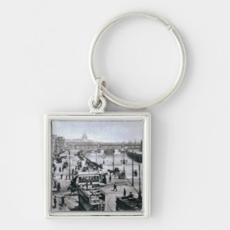 O' Connell Bridge and the River Liffey, Dublin Silver-Colored Square Keychain