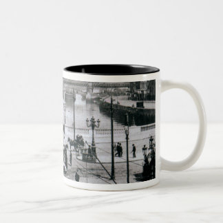O' Connell Bridge and the River Liffey, Dublin Two-Tone Coffee Mug