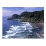 O, costa de Oregon, faro principal de Heceta, ence Tarjeta Postal