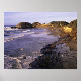O, costa de Oregon, Newport, línea de la playa en  Impresiones