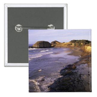 O, costa de Oregon, Newport, línea de la playa en  Pin Cuadrado