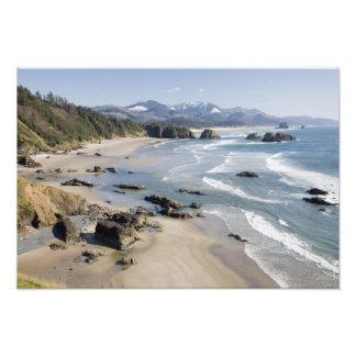 O, costa de Oregon, parque de estado de Ecola, cre Fotografías