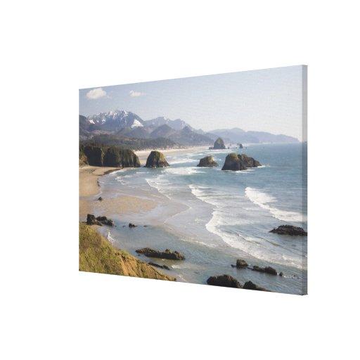 O, costa de Oregon, parque de estado de Ecola, cre Lona Estirada Galerias