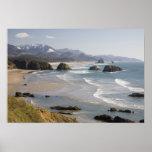 O, costa de Oregon, parque de estado de Ecola, cre Impresiones