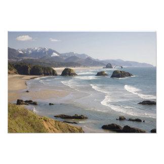 O, costa de Oregon, parque de estado de Ecola, cre Arte Fotográfico
