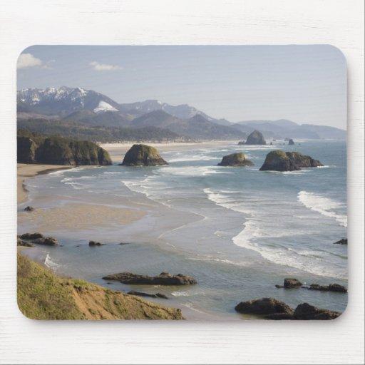 O, costa de Oregon, parque de estado de Ecola, cre Mouse Pads