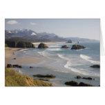 O, costa de Oregon, parque de estado de Ecola, cre Tarjeta De Felicitación
