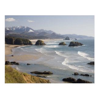 O costa de Oregon parque de estado de Ecola cre Tarjeta Postal