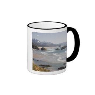 O, costa de Oregon, parque de estado de Ecola, cre Tazas De Café