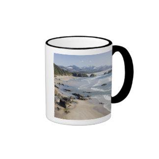 O, costa de Oregon, parque de estado de Ecola, cre Taza De Café