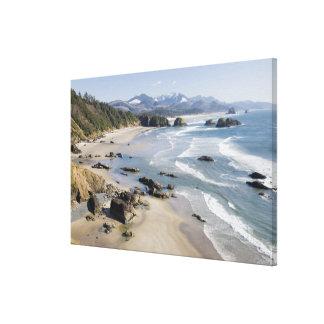 O, costa de Oregon, parque de estado de Ecola, Lona Estirada Galerías