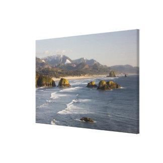 O, costa de Oregon, parque de estado de Ecola, vis Lienzo Envuelto Para Galerias