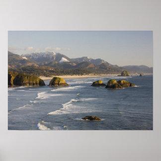 O, costa de Oregon, parque de estado de Ecola, vis Posters