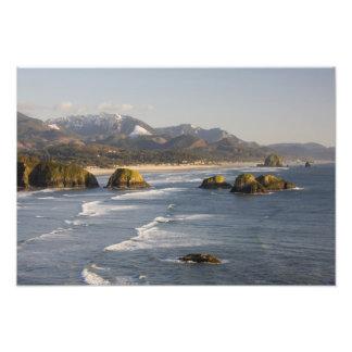 O, costa de Oregon, parque de estado de Ecola, vis Impresión Fotográfica