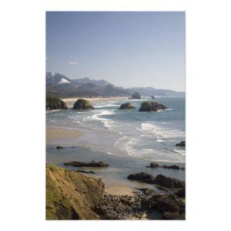 O, costa de Oregon, parque de estado de Ecola, vis Arte Con Fotos